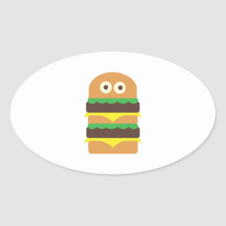 Hamburger_Base Oval Sticker