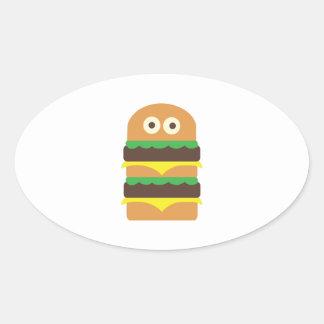 Hamburger_Base Pegatina Ovalada