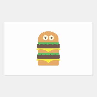 Hamburger_Base Rectangle Sticker