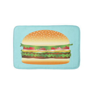 Hamburger Bathroom Mat