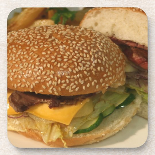 Hamburger Beverage Coaster