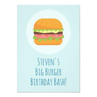 Hamburger Birthday Party Invitation