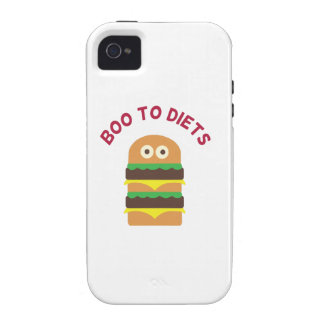 Hamburger_Boo To Diets iPhone 4 Case