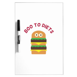 Hamburger_Boo To Diets Dry-Erase Whiteboards
