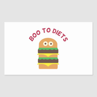 Hamburger_Boo To Diets Rectangular Sticker