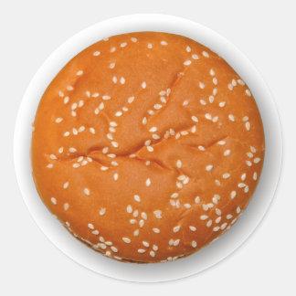 Hamburger Bun Classic Round Sticker