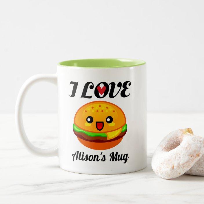 Burger Coffee Cup Tea Mug Drink Novelty Themed Burgers Lovers Coffee Cuppa