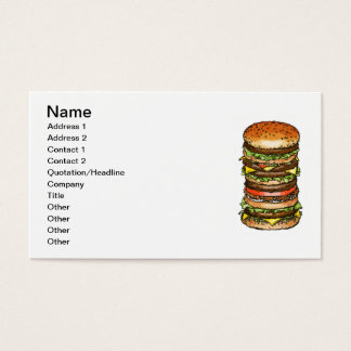 hamburger business card