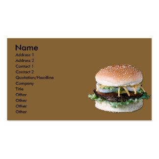 Hamburger Business Card