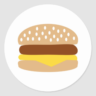 Hamburger Classic Round Sticker