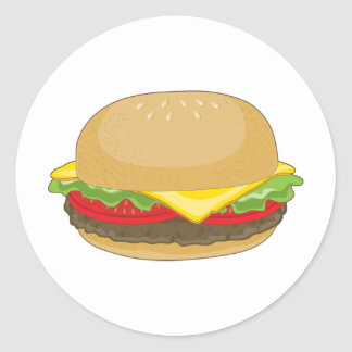 Hamburger Classic Round Sticker