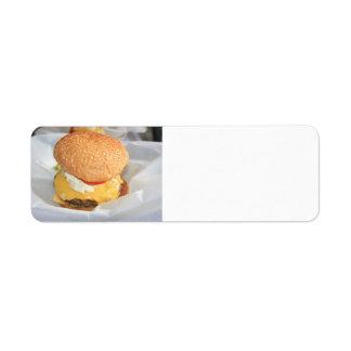 Hamburger Custom Return Address Labels