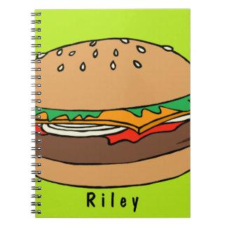 Hamburger custom spiral notebook