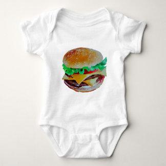 hamburger design, original painting baby bodysuit