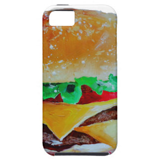 hamburger design, original painting iPhone SE/5/5s case