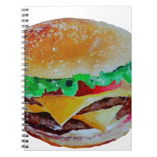 hamburger design, original painting notebook