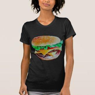 hamburger design, original painting t-shirt