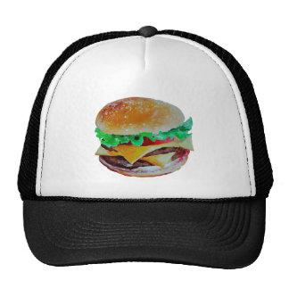 hamburger design, original painting trucker hat