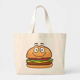 Hamburger Emoji Large Tote Bag