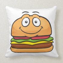 Hamburger Emoji Pillow