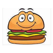 Hamburger Emoji Postcard
