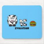 hamburger evolution mouse pad