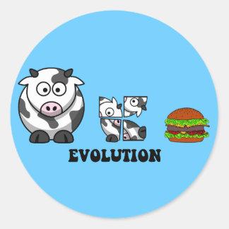hamburger evolution round stickers