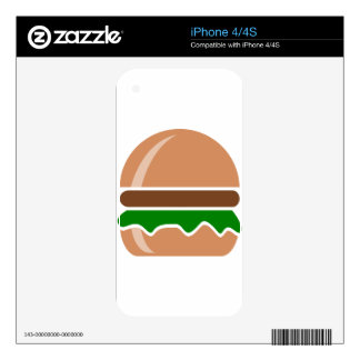 Hamburger fast food a sandwich skins for the iPhone 4