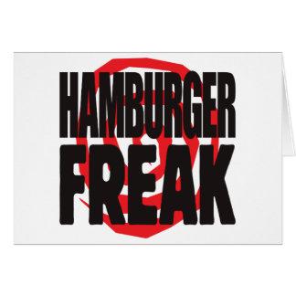 Hamburger Freak Greeting Card