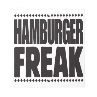 Hamburger Freak Note Pad