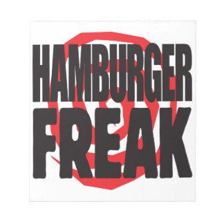 Hamburger Freak Memo Notepads