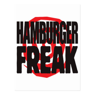 Hamburger Freak Postcard