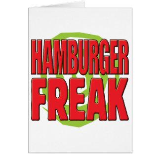 Hamburger Freak R Greeting Card