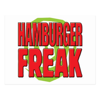 Hamburger Freak R Postcard
