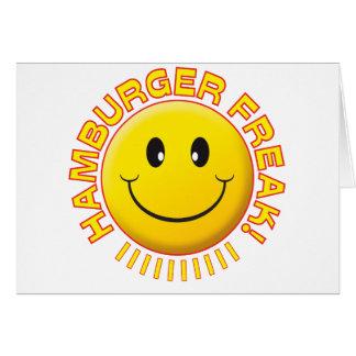 Hamburger Freak Smile Greeting Card