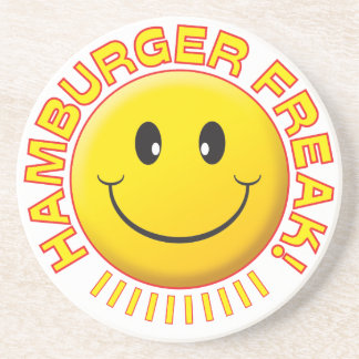 Hamburger Freak Smile Drink Coaster