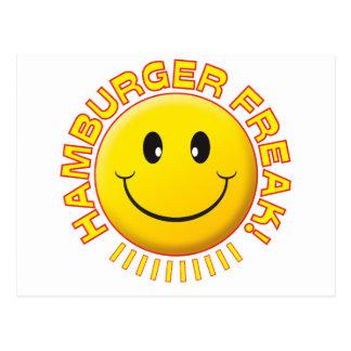 Hamburger Freak Smile Postcard