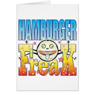Hamburger Freaky Freak Greeting Card