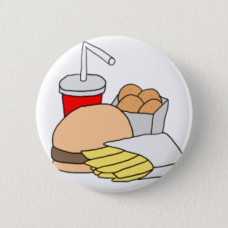 Hamburger, Fries, Chicken Nuggets and Soda Button