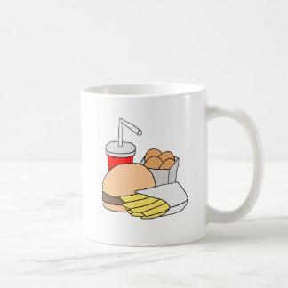 Hamburger, Fries, Chicken Nuggets and Soda Coffee Mug