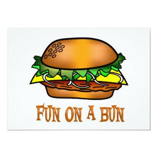 Hamburger Fun 5x7 Paper Invitation Card