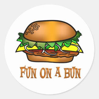 Hamburger Fun Classic Round Sticker