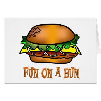 Hamburger Fun Greeting Card