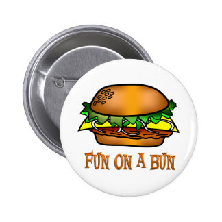 Hamburger Fun Pinback Button