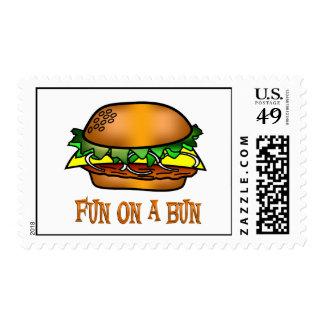 Hamburger Fun Postage Stamp