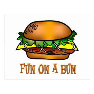 Hamburger Fun Postcard