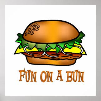 Hamburger Fun Poster