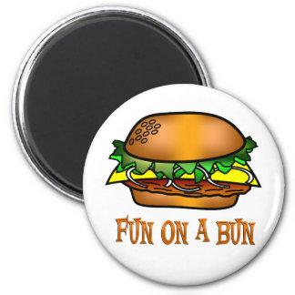 Hamburger Fun Refrigerator Magnet