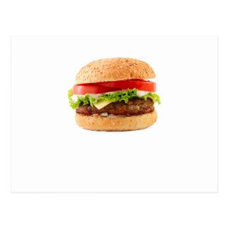 Hamburger Funny Halloween costume matching couples Postcard