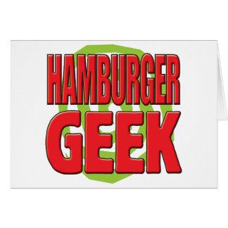 Hamburger Geek Greeting Card
